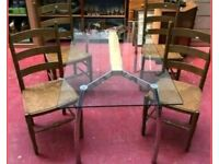 **£85** M&S Glass Top Dining Table and 4 Chairs
