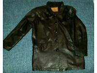 Womens Milan Leather Coat size 10