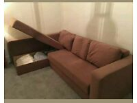Corner Sofa bed with double storage space. Excellent condition. Only £300. *Free Delivery*