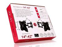 Brandnew TV Bracket Tilt Swivel LCD Wall Mount comes with HDMI CABEL.