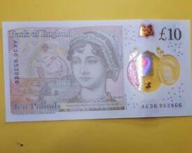 Rare £10 Note