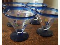 4 cocktail or trifle glasses Royal Caribbean