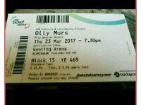 Olly Murs Birmingham Ticket TODAY !