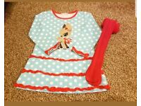 Cute Christmas dress and tights set. 3 years