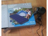 Single Air Bed with pump