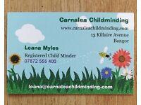 Childminding vacancies for September 17