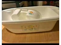 Baby bath with tray