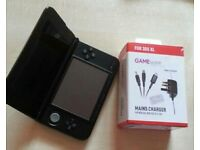 3DS XL console black with a charger