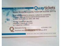 Manchester winter wonderland family ticket