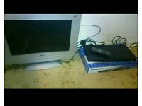 Bluray player, TV and dvds