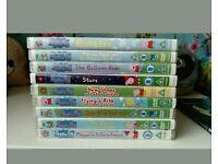 9 peppa pig dvds - 90 episodes
