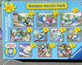 Thomas the Tank Engine jigsaws. Box of 10 complete. Smoke free pet free home