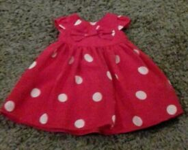 Jasper Conran dress 3-6 months and red tights