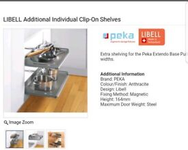 Libell pullout shelf for 400mm unit
