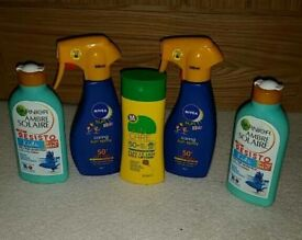 5 x Kids suntan lotion (new)
