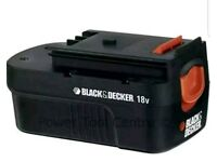 Black & Decker A18E Slide Pack Battery 1.2ah 18 Volt.