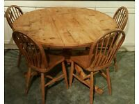 Pine dining table (free local delivery)
