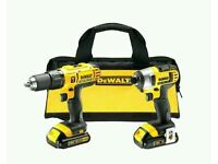 DeWalt hammer drill driver and impact driver twin pack from DeWalt is cordless