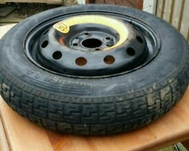 "Genuine ford 15"" space sever steel wheel (spare wheel) with Michelin tyre"