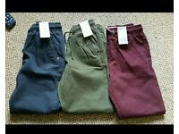 Boys age 8 trousers x3 brand new rrp £8 each