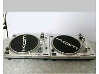 Kam ddx750 direct drive Dj decks turntables