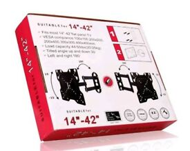 """14"""" - 42"""" Brandnew TV Bracket Tilt Swivel LCD Wall Mount comes with HDMI CABEL."""