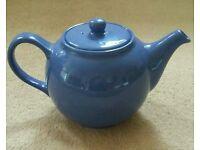 Classic Blue Ceramic Teapot