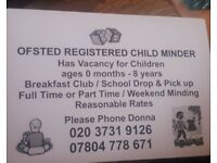 Ofsted registerd childcare