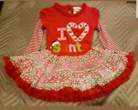 I love Santa dress girls Christmas 3 4 years