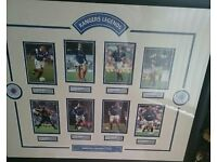 Rangers large framed legends prints