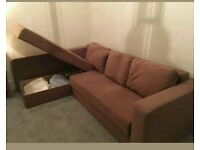 Corner Sofa bed with double storage space. Excellent condition. Only £280. *Free Delivery*