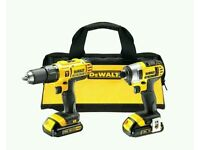 DeWalt hammer drill driver and impact driver twin pack
