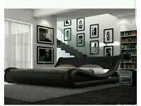 King-size black bed