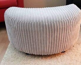 Light grey footstool
