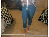 Denim style cropped jeans forever 21