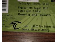2 Runrig standing tickets - Stirling