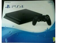Ps4 console & controller.