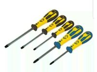 CK T49153 Dextro Screwdriver Slotted & PZD Set Of 5