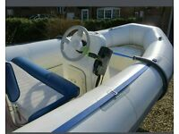 Avon 4 metre 50hp RIB with trailer