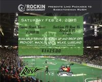 Limo Packages to Rush Games!