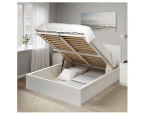 IKEA Double-size MALM bed with pull-up storage