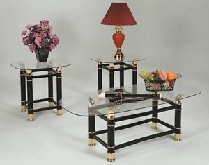 WANTED:  GLASS & BRASS HORN STYLE COFFEE AND END TABLES ...