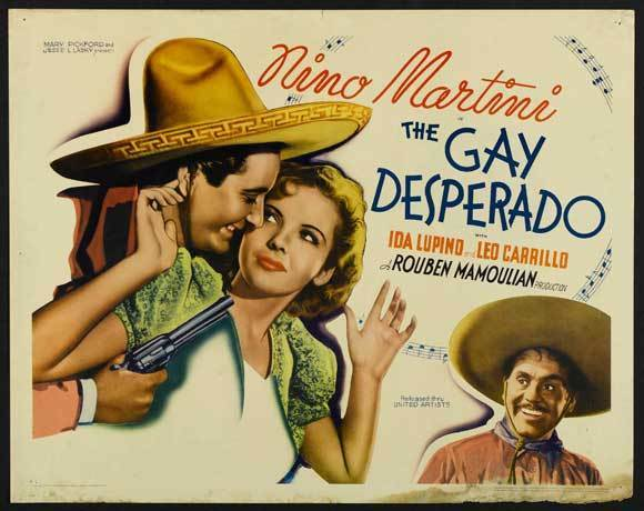 THE GAY DESPERADO Movie POSTER 22x28 Half Sheet Nino Martini Ida Lupino Leo