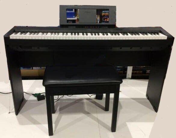 Yamaha P45 88-Key Digital Piano Keyboard P45BLB2 w/Stand & Bench Bundle