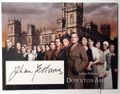 Julian Fellowes signed autograph photo mount 12x16 inch  COA Downton Abbey