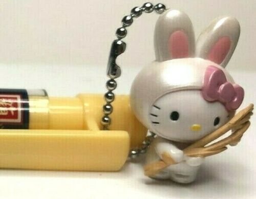 Sanrio HAKONE Limited Mechanical Pencil RABBIT KITTY HOLDING PAMPAS GRASS Charm
