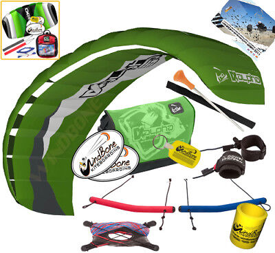 HQ Alpha 1.5M Kite Quad Handle 4-Line Foil Trainer Traction Buggy Jumping +Kite, used for sale  Dunellen