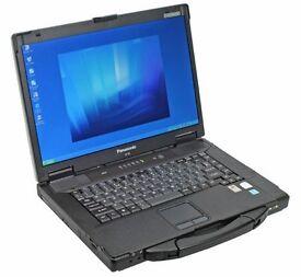 Panasonic Toughbook Cf 52 WIDESCREEN Laptop Win 7 Pro 4 Gb 256 SSD core2duo