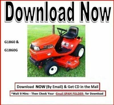 Kubota Tg1860 Tg1860g Lawn Garden Tractor Workshop Service Repair Maint Manual