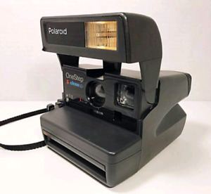 Vintage Polaroid One Step camera with box